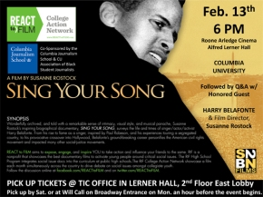 Monday: Harry Belafonte Film Screening